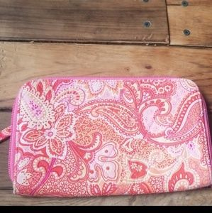 Vera Bradley Large pink paisley wallet